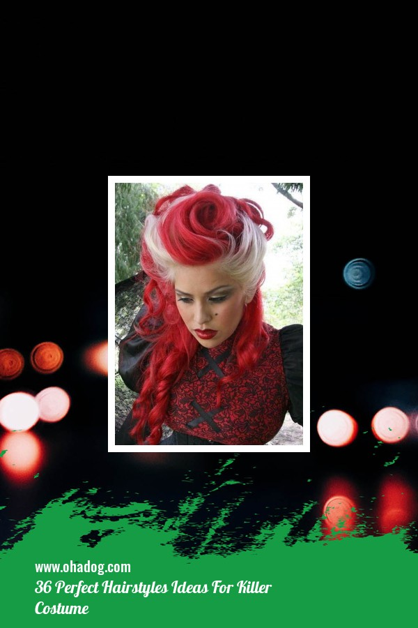 36 Perfect Hairstyles Ideas For Killer Costume 7