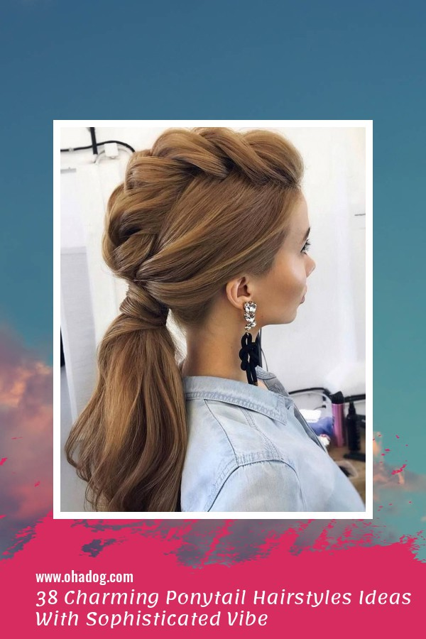 38 Charming Ponytail Hairstyles Ideas With Sophisticated Vibe 1