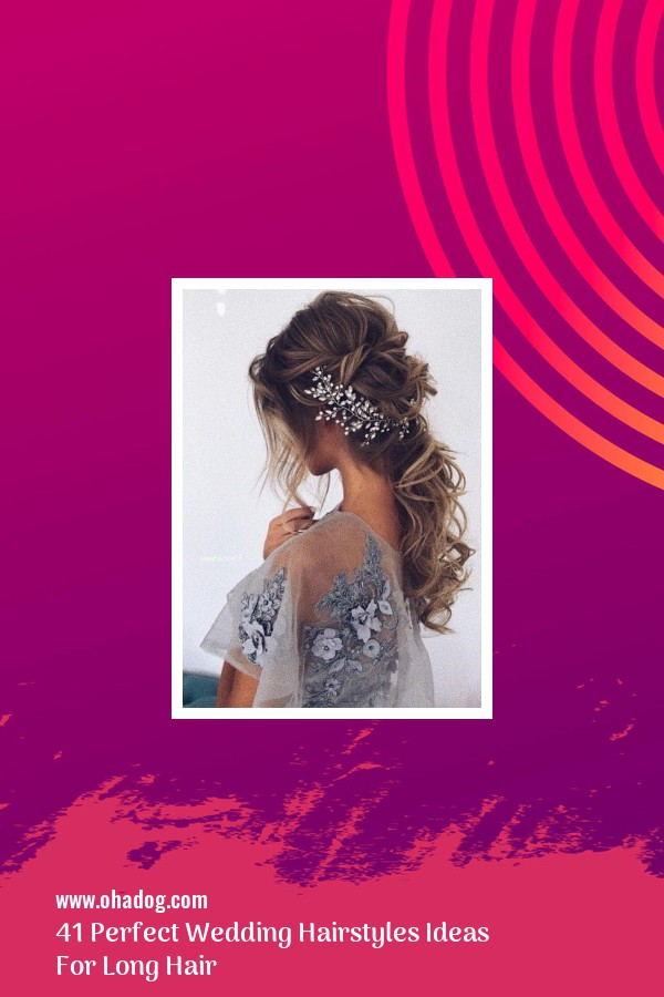 41 Perfect Wedding Hairstyles Ideas For Long Hair 22