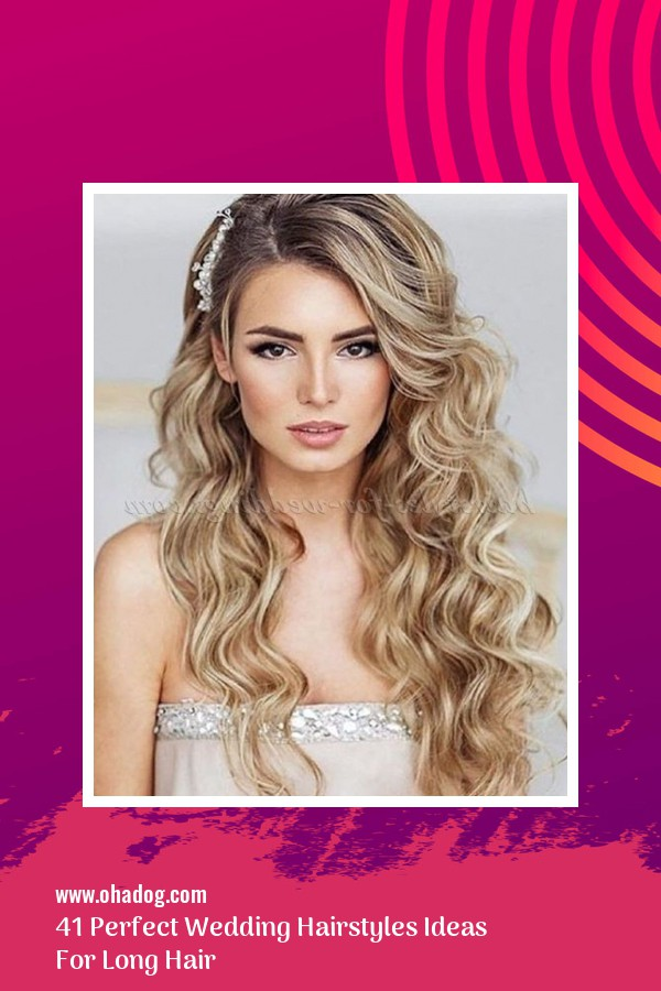 41 Perfect Wedding Hairstyles Ideas For Long Hair 5