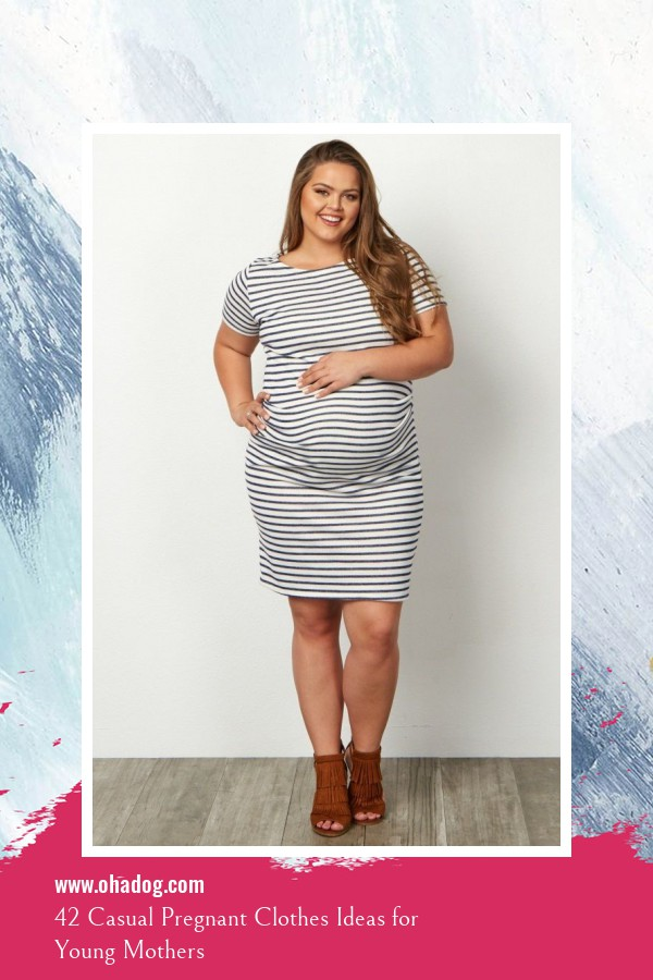 42 Casual Pregnant Clothes Ideas for Young Mothers 14