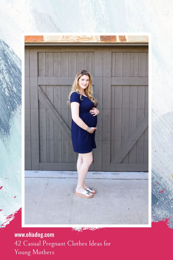 42 Casual Pregnant Clothes Ideas for Young Mothers 20