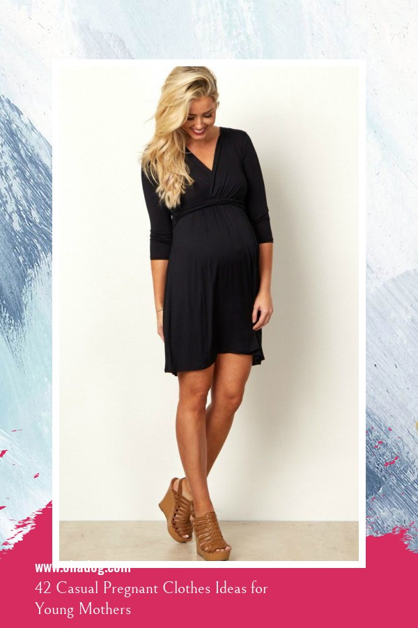 42 Casual Pregnant Clothes Ideas for Young Mothers 40