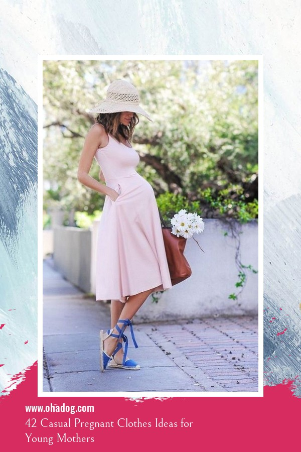 42 Casual Pregnant Clothes Ideas for Young Mothers 41