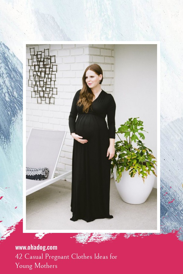 42 Casual Pregnant Clothes Ideas for Young Mothers 9