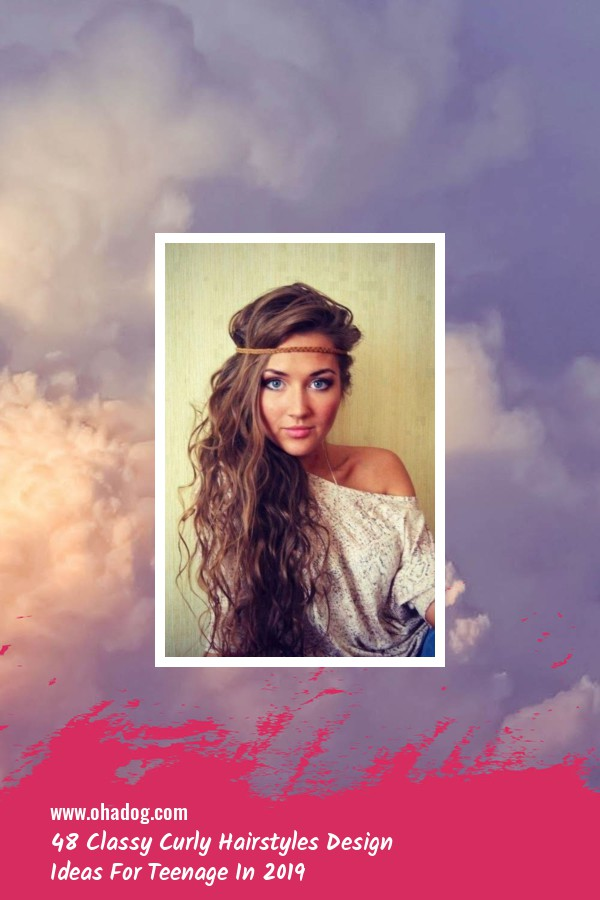 48 Classy Curly Hairstyles Design Ideas For Teenage In 2019 16