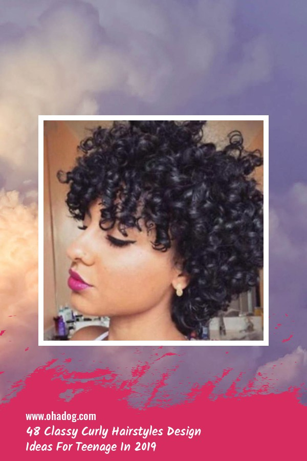 48 Classy Curly Hairstyles Design Ideas For Teenage In 2019 31
