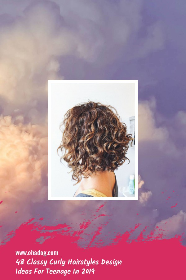 48 Classy Curly Hairstyles Design Ideas For Teenage In 2019 34