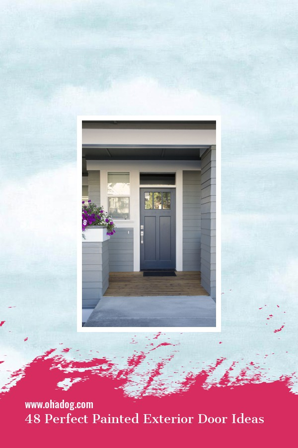 48 Perfect Painted Exterior Door Ideas 1