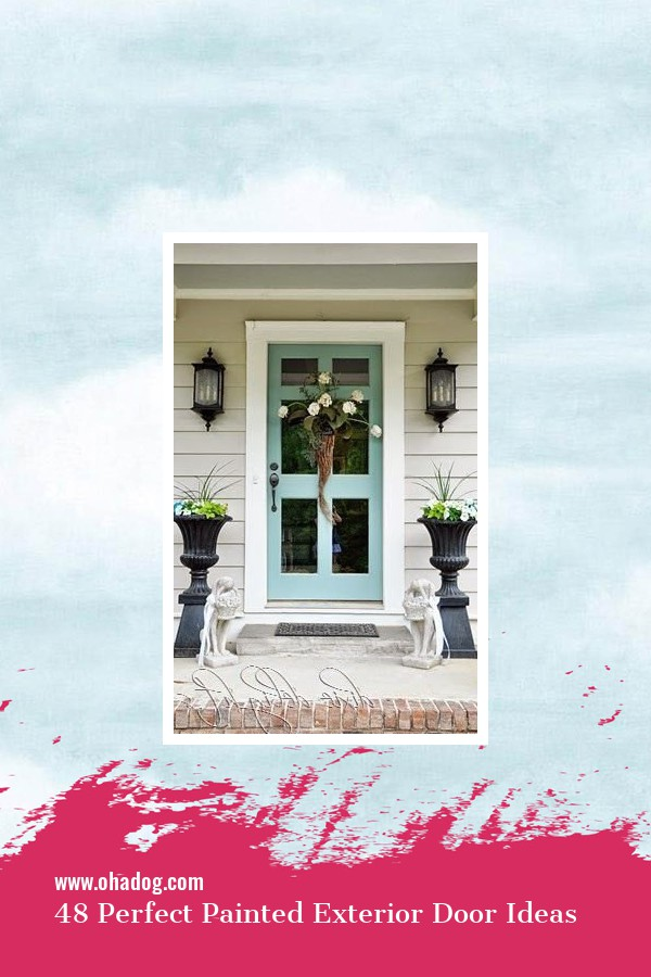 48 Perfect Painted Exterior Door Ideas 3