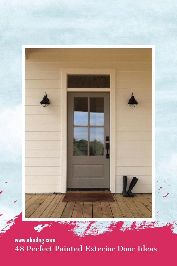 48 Perfect Painted Exterior Door Ideas 30