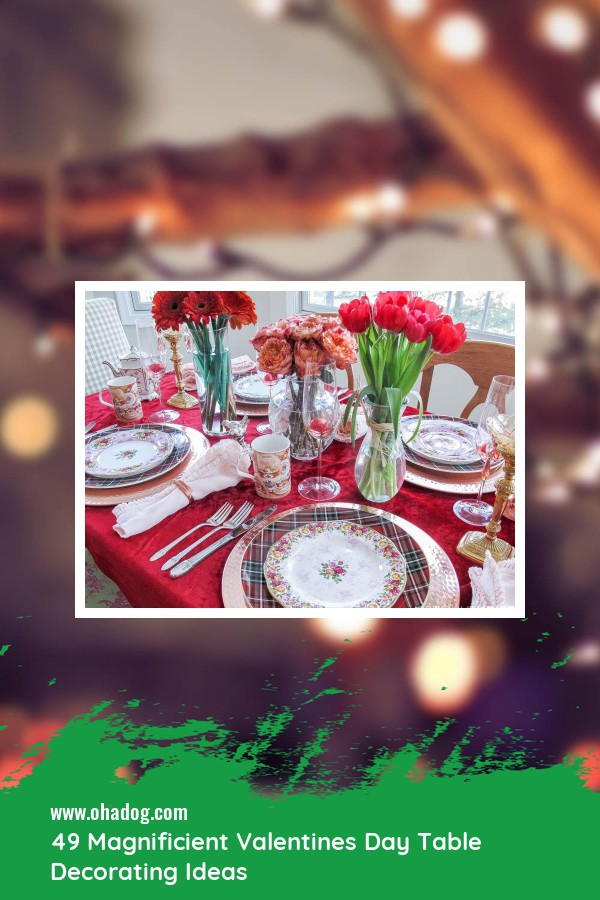 49 Magnificient Valentines Day Table Decorating Ideas 1