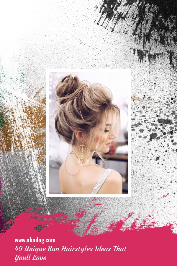 49 Unique Bun Hairstyles Ideas That Youll Love 1