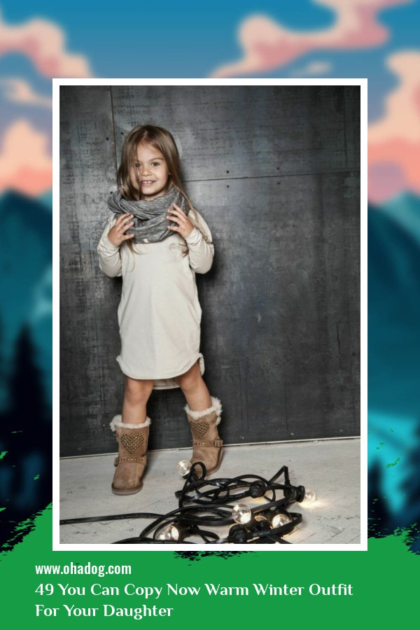 49 You Can Copy Now Warm Winter Outfit For Your Daughter 33